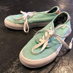 Girls Seafoam green Vans. Size 2.